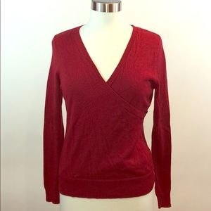 Talbots Burgundy Wrap Sweater PS Petite Small NWT